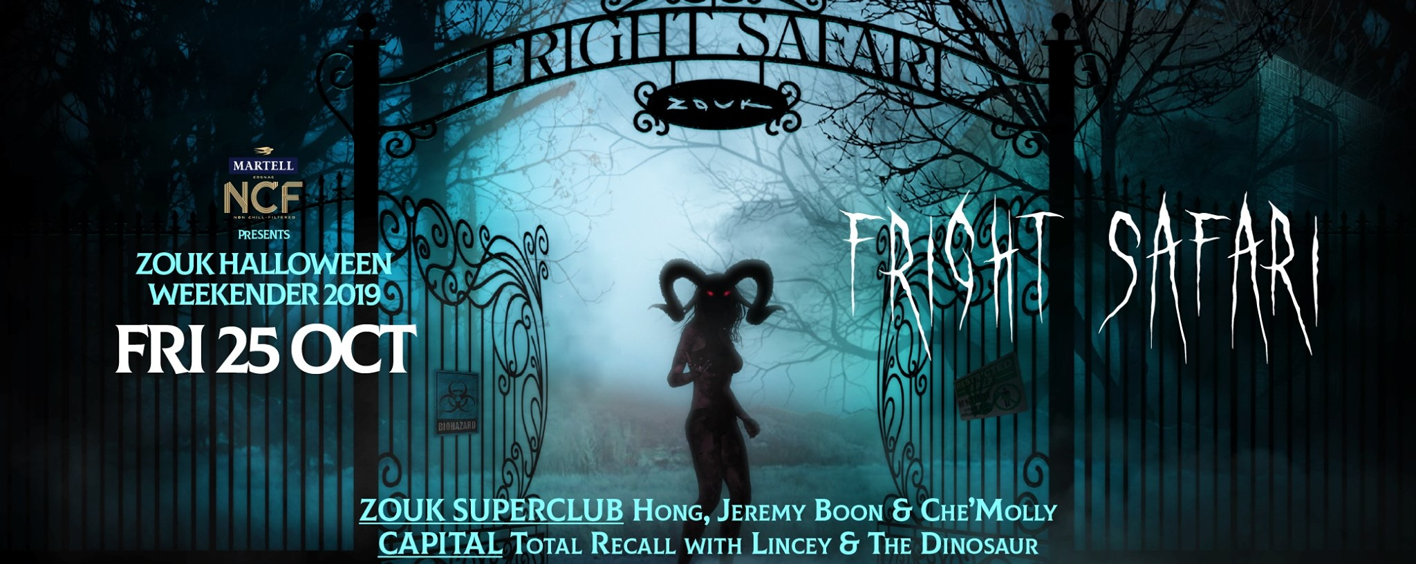 MARTELL NCF PRESENTS FRIGHT SAFARI FT. TOTAL RECALL WITH LINCEY & THE DINOSAUR