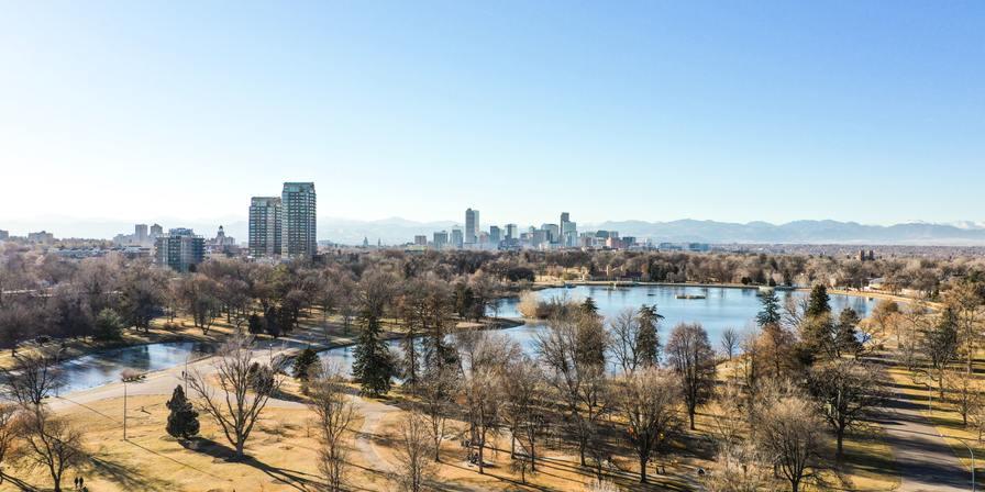 Denver skyline on a sunny day
