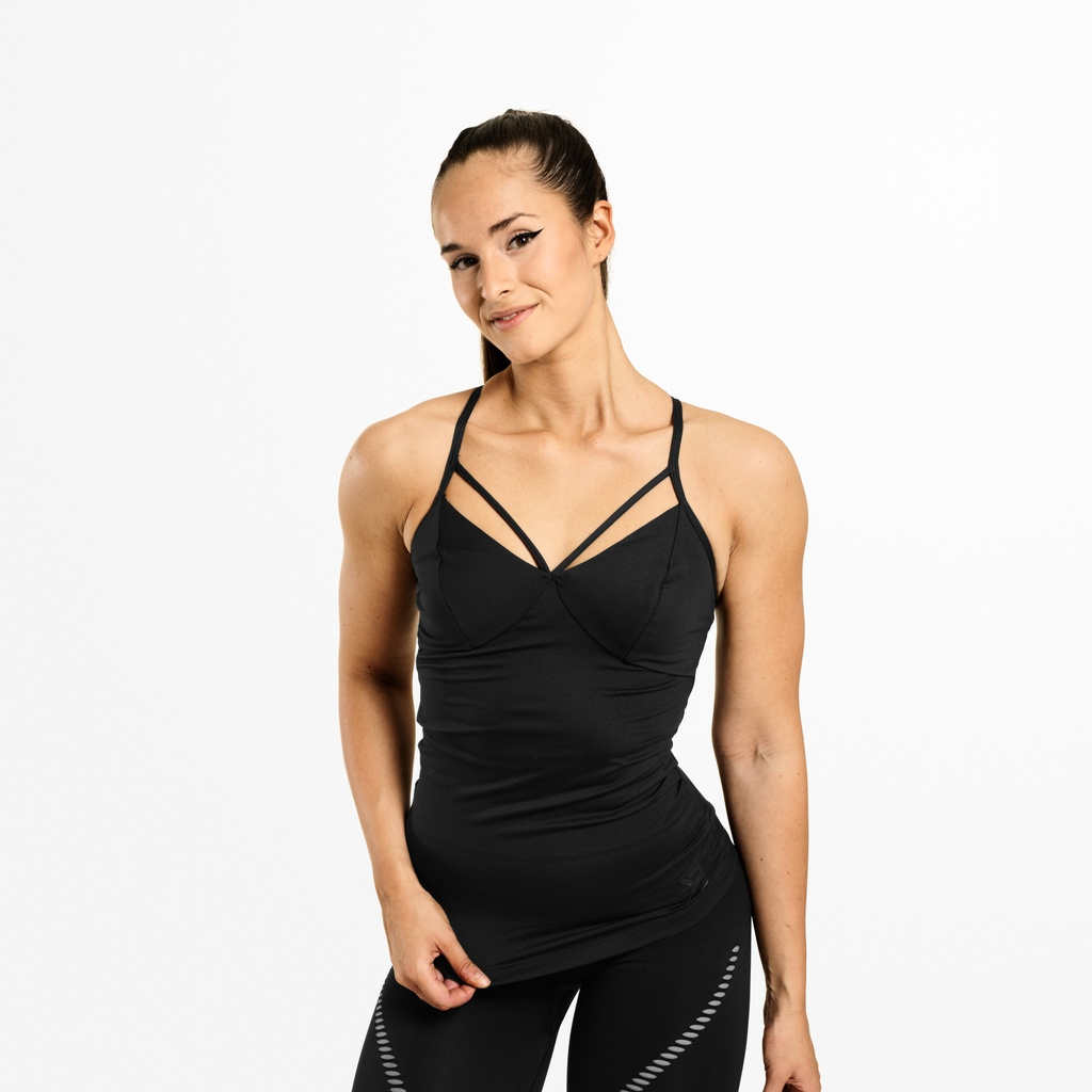 A product image of Waverly Strap Top, Black