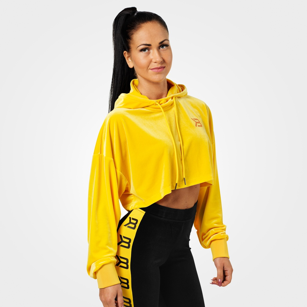 A product image of Chrystie Crop Hoodie, Yellow