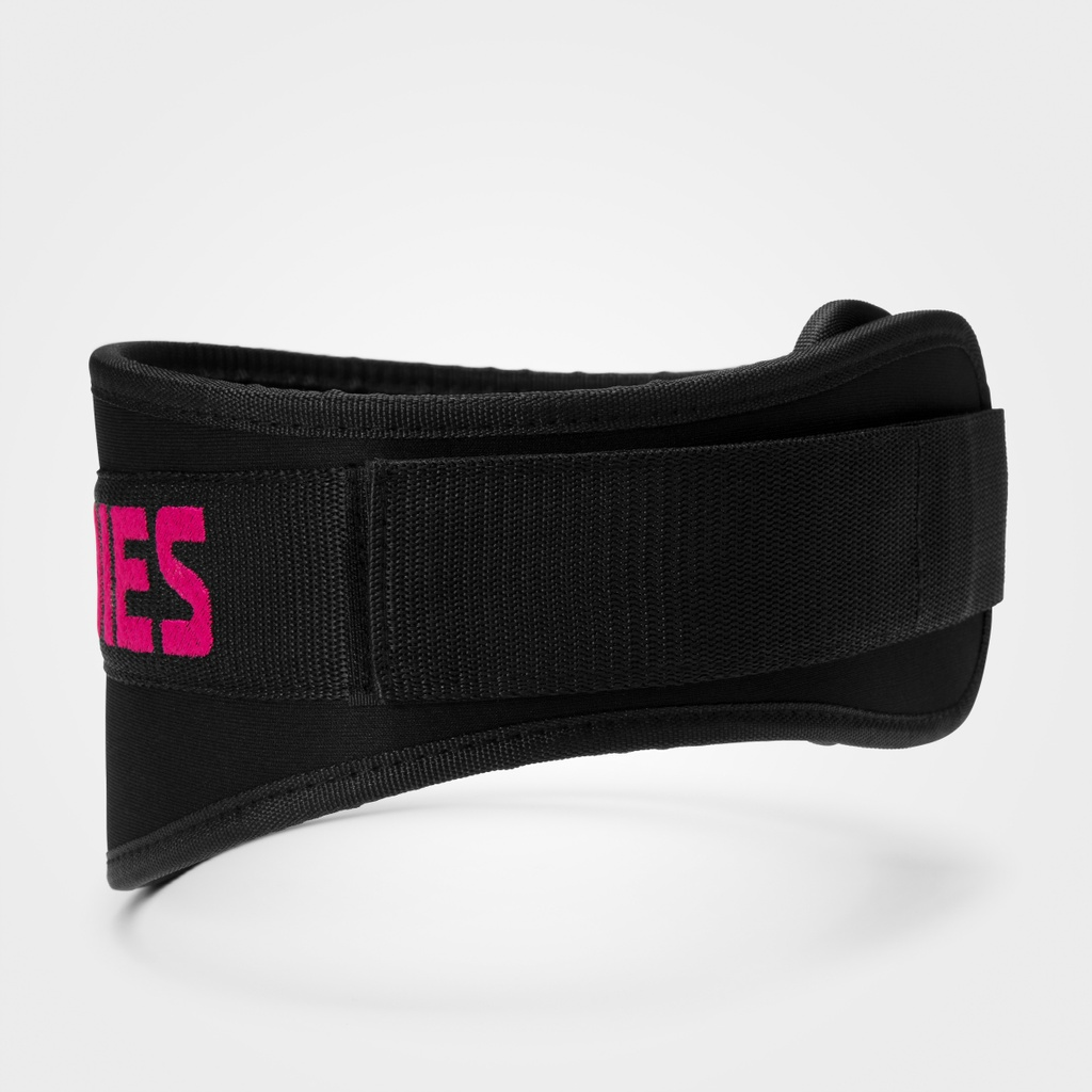 A product image of Womens gym belt, Black/pink