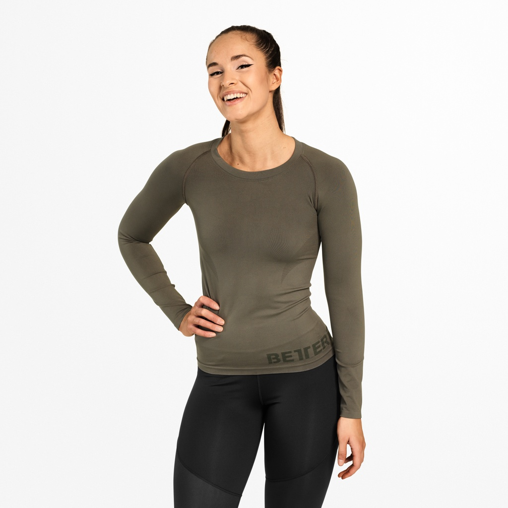 A product image of Nolita Seamless LS, Wash Green
