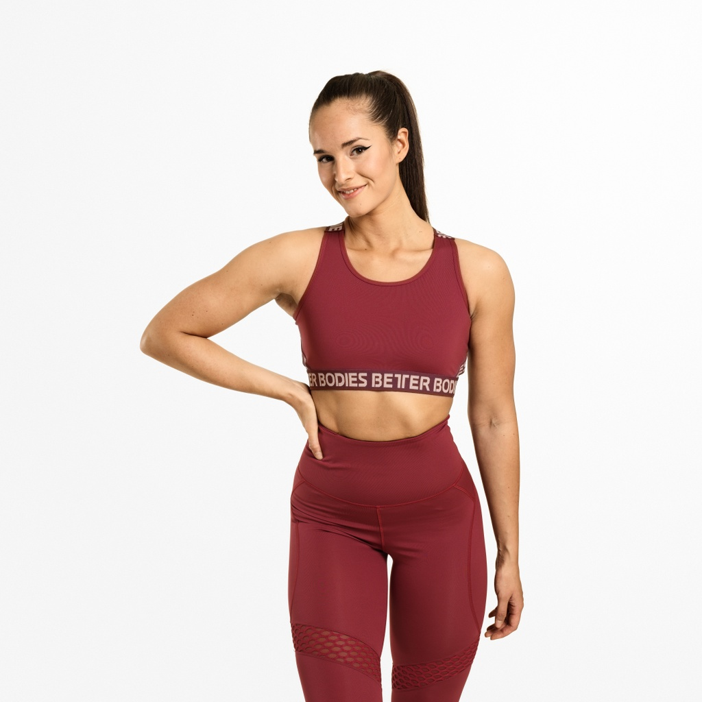 A product image of Waverly Elastic Bra, Sangria Red