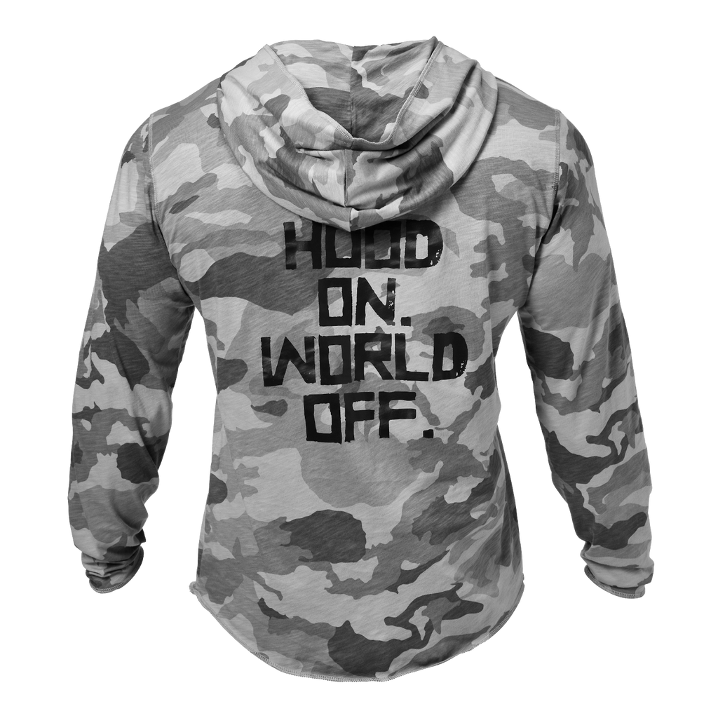 A product image of World Off hood, Snow Camo