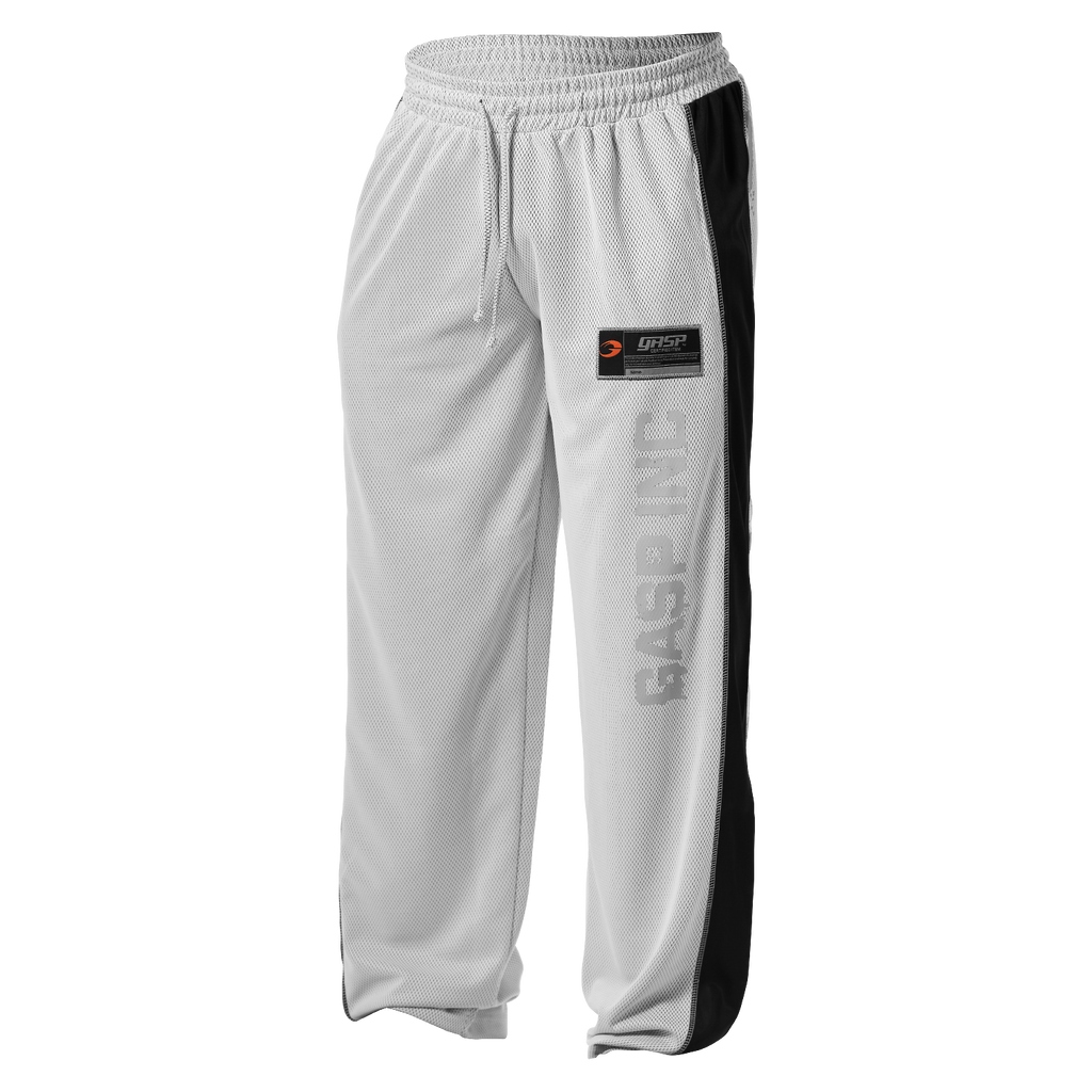 A product image of No1 mesh pant, white/black