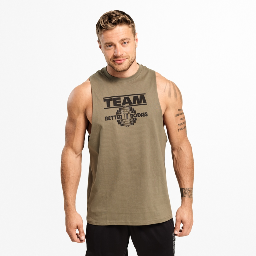 A product image of Team BB Tank, Washed Green