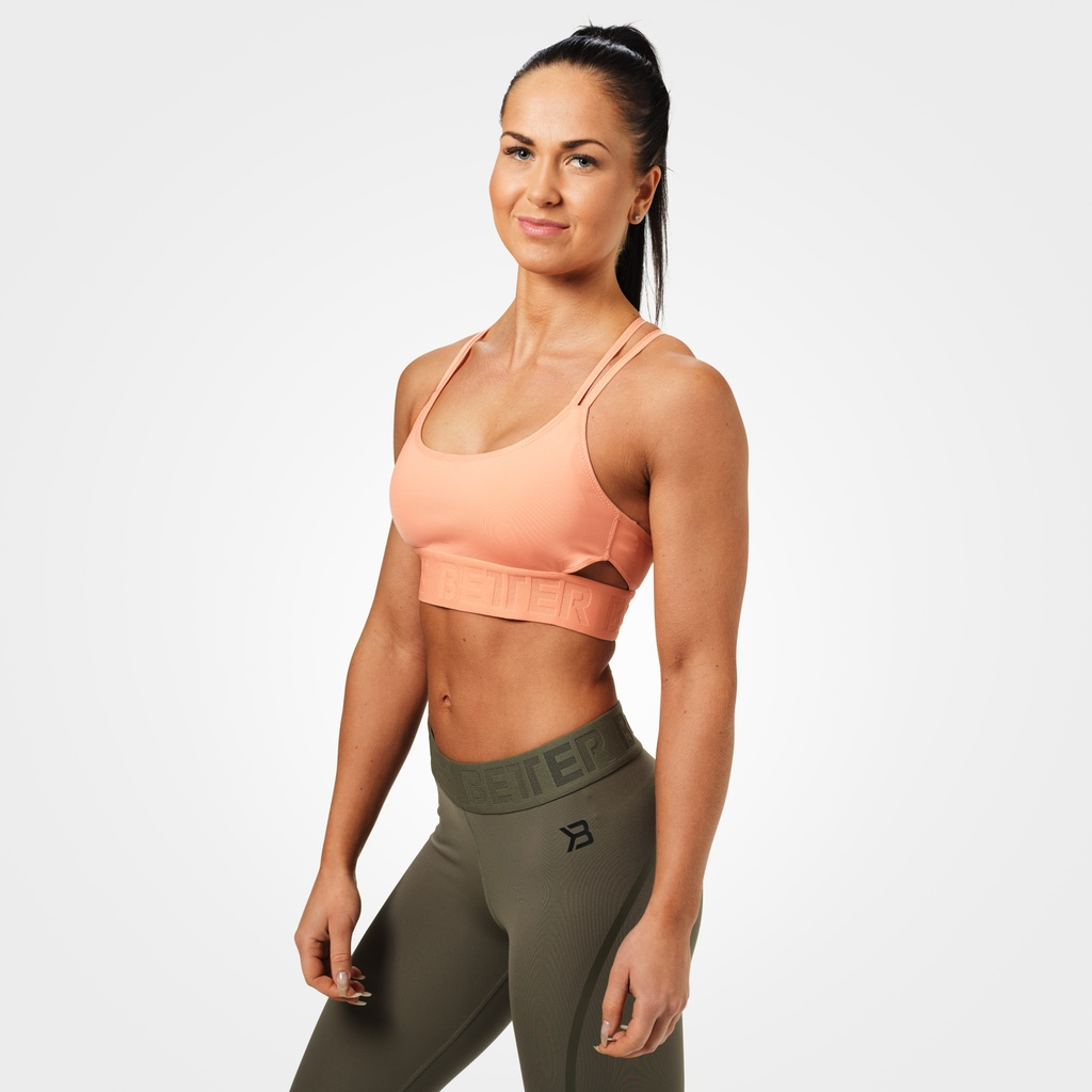 A product image of Astoria sports bra, Peach