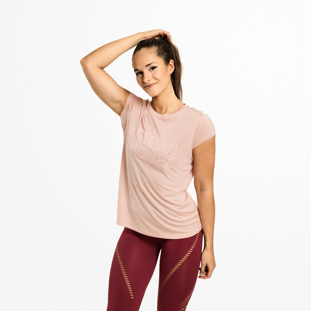 A product image of Waverly Tee, Peach Beige