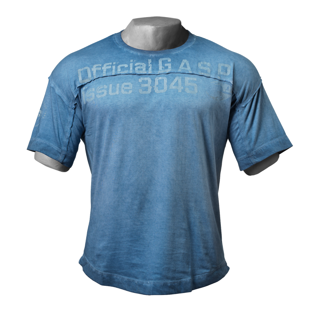 A product image of HL yoke tee, Ocean blue