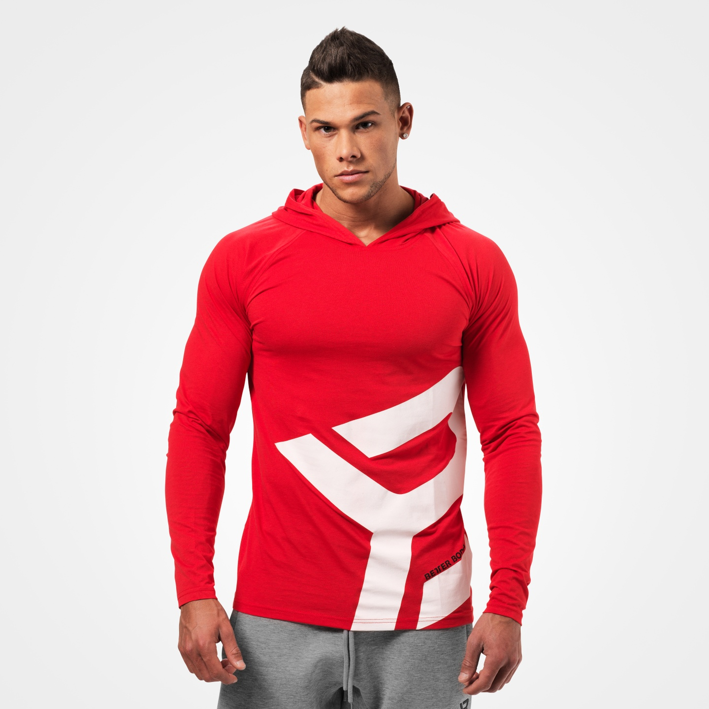 28c6981a948 A product image of Astor Longsleeve Hoodie, Bright Red ...