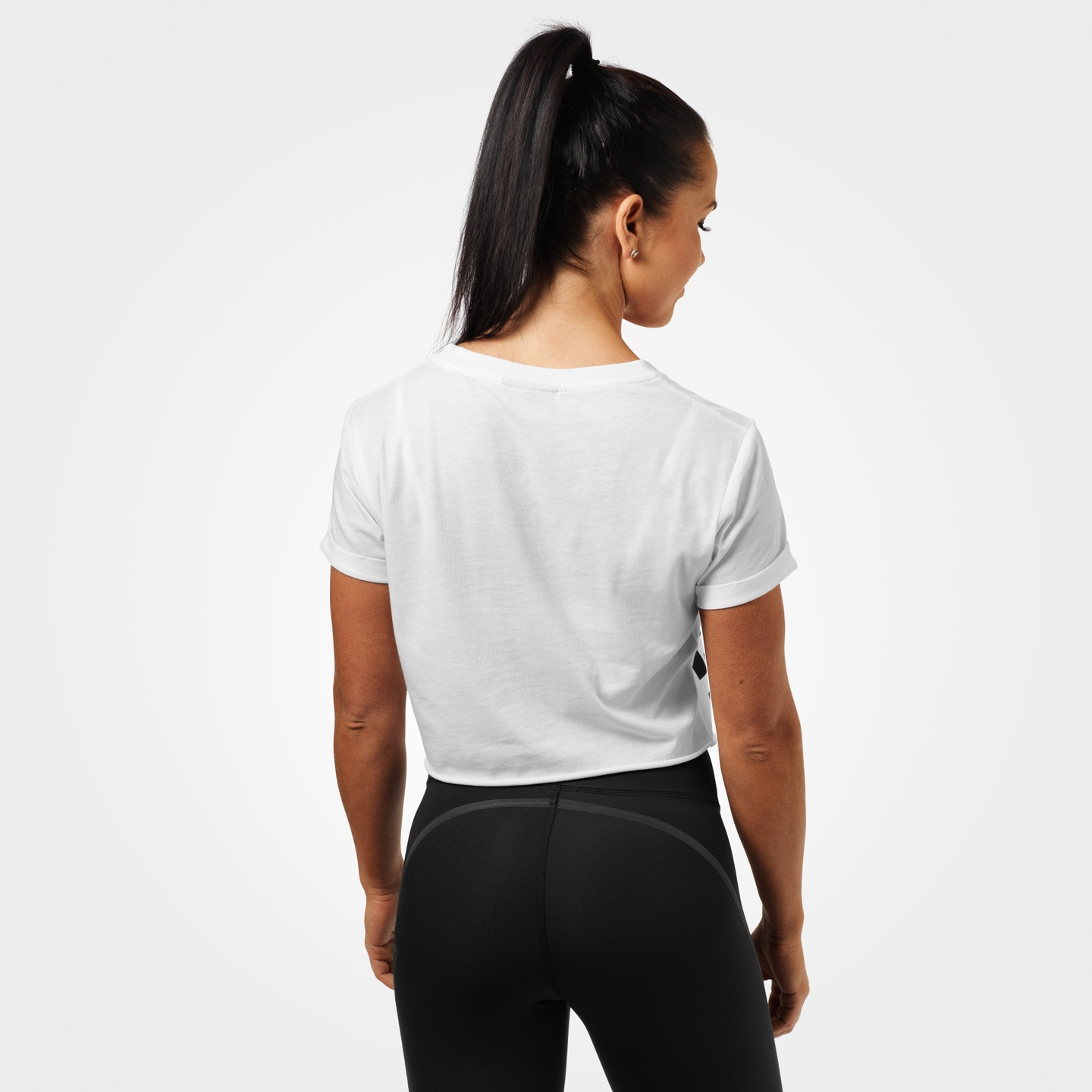 68a4b5b956d7 ... White A product image of Astoria cropped tee