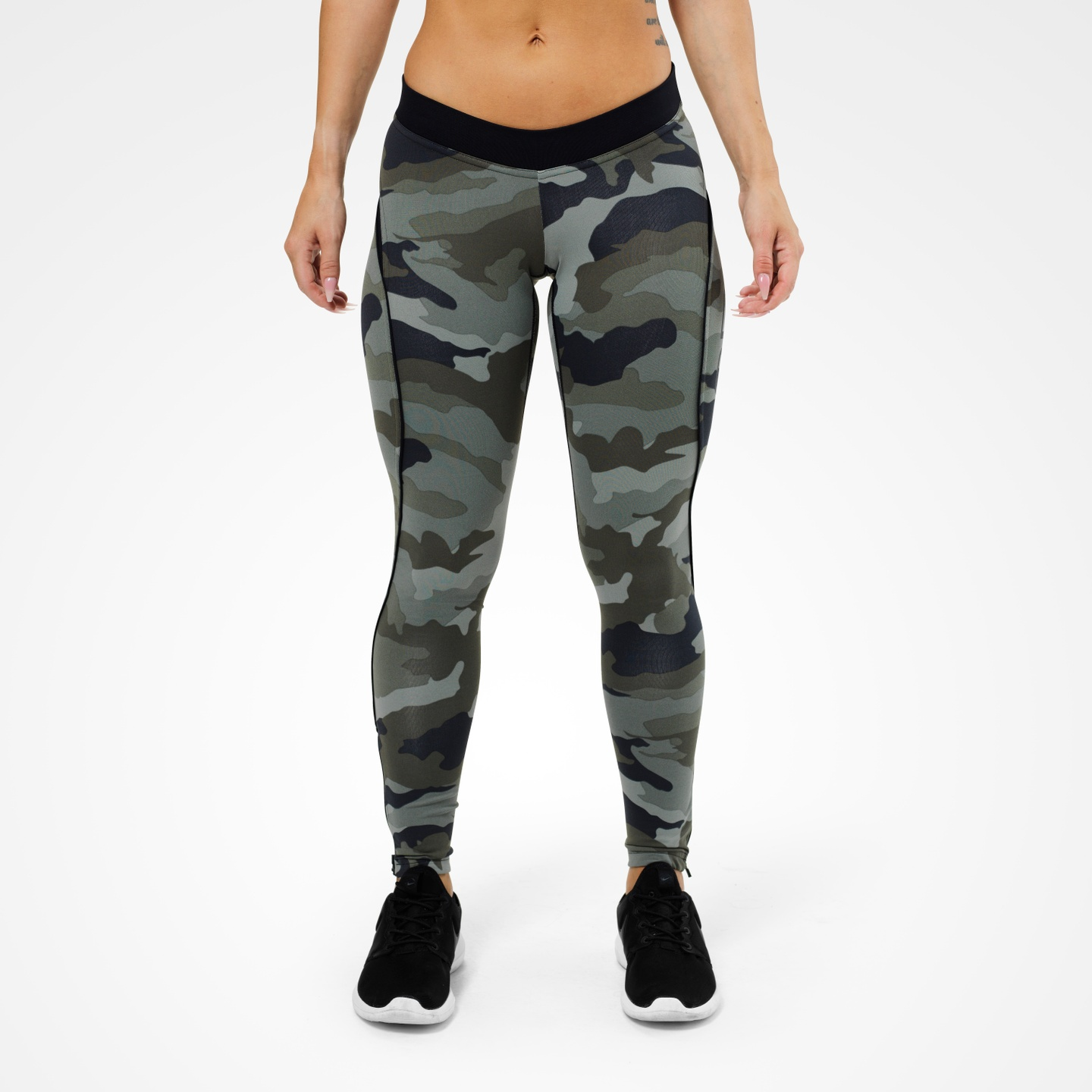 a6c509513a76b ... A product image of Camo Long Tights, Green Camoprint