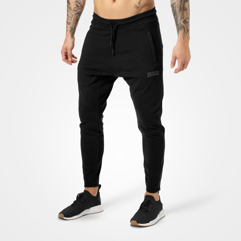 Harlem Zip Pants, Black