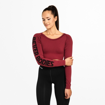 Product photo of Bowery Cropped LS, Sangria Red