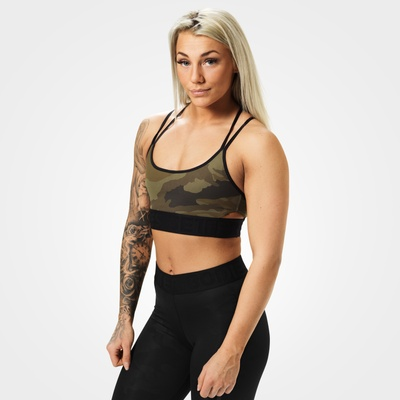 Product photo of Astoria sports bra, Dark green camo