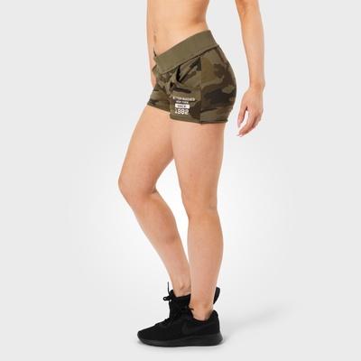 Product photo of Rough sweatshorts, Dark green camo