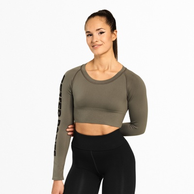 Product photo of Bowery Cropped LS, Wash Green