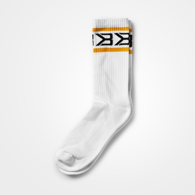 Product photo of Tribeca Socks 2-pack,  White/Yellow