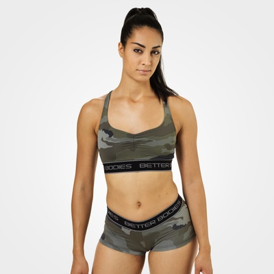 Product photo of Athlete Short Top, Green Camoprint
