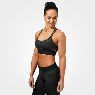 Product photo of Astoria sports bra, Black camo