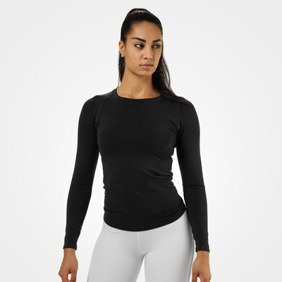 Product photo of Nolita seamless ls, Black melange
