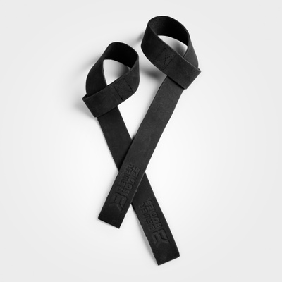 Product photo of Leather Lifting Straps, Black