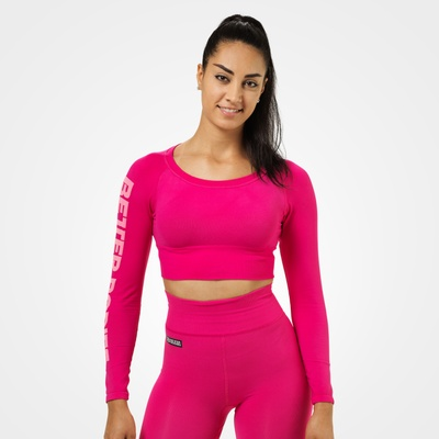 Product photo of Bowery Cropped LS, Hot Pink
