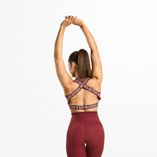 Waverly Elastic Bra, Sangria Red