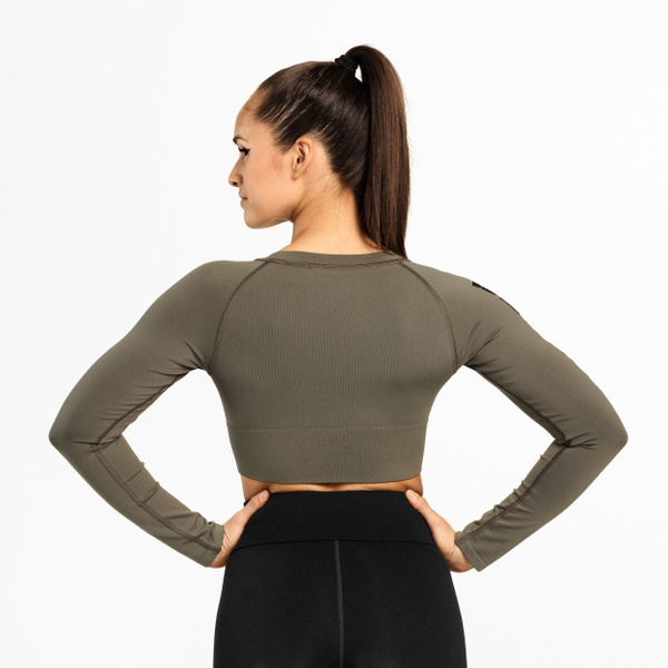 Bowery Cropped LS, Wash Green