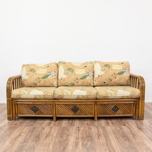 Tropical Rattan Sleeper Sofa Bed