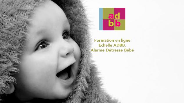 Représentation de la formation : Formation en ligne à l'utilisation de l'échelle Alarme Détresse Bébé (ADBB)