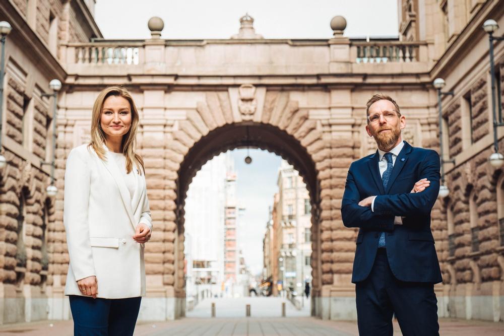 Ebba Busch och Jakob Forssmed. Foto: Abraham Engelmark