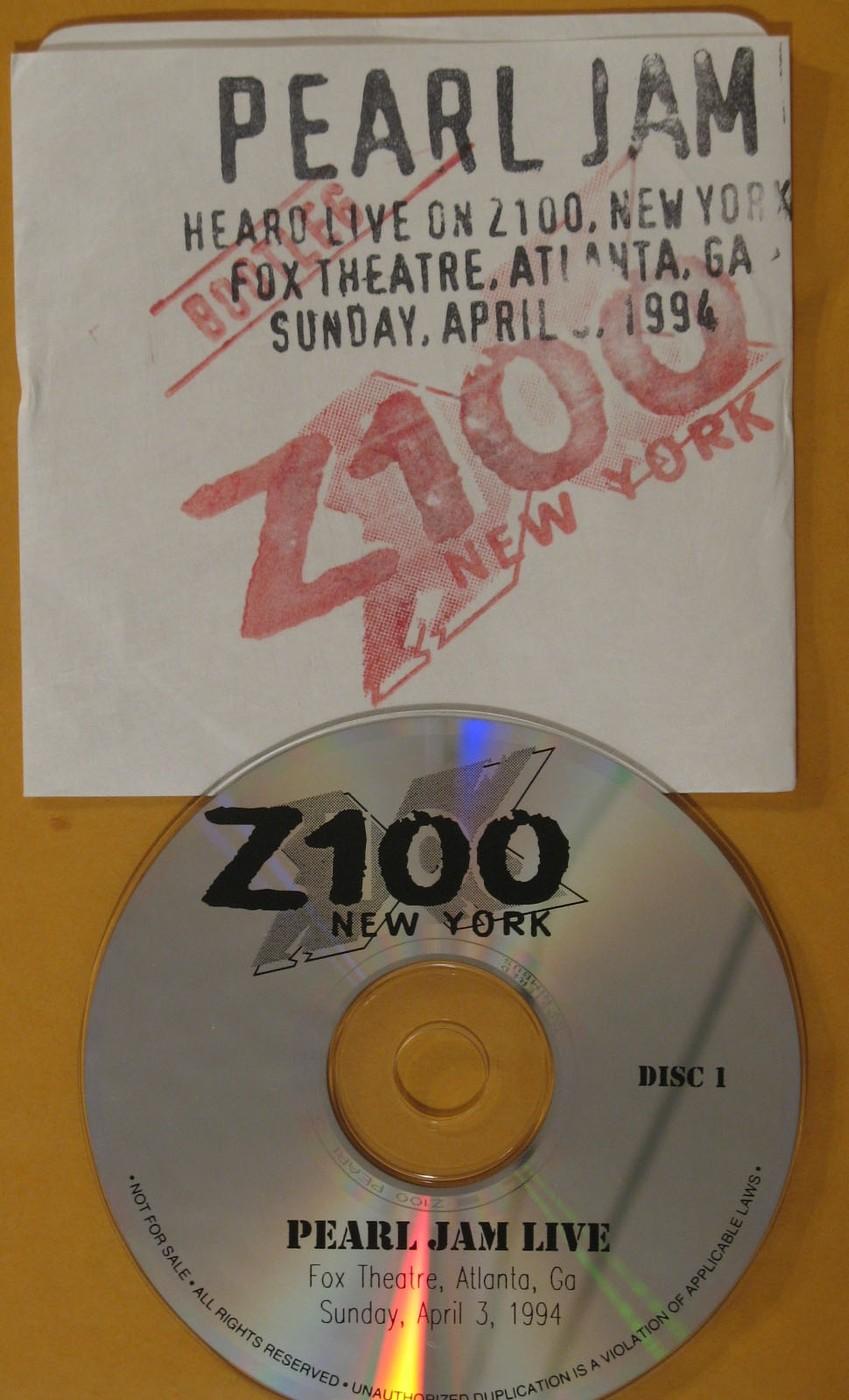 PEARL JAM - Heard Live On Z100, New York, Fox Theatre