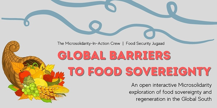 Global Barriers to Food Sovereignty Event Banner