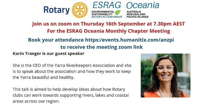 ESRAG Oceania September Chapter Meeting Event Banner