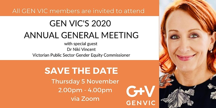 GEN VIC 2020 Annual General Meeting Event Banner