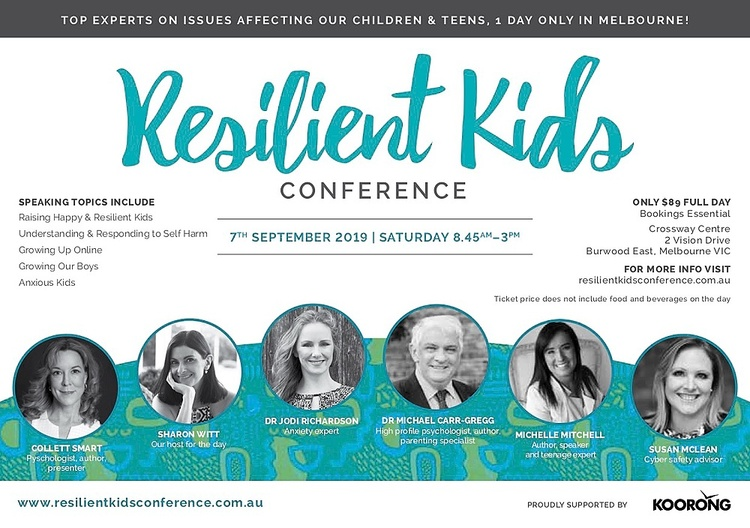 MELBOURNE Resilient Kids Conference 2019 Tickets, Sat 7th Sep 2019 8:45 am  - 3:00 pm | Humanitix