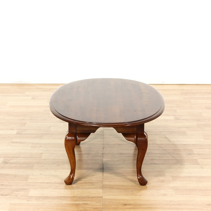 Mahogany Queen Anne Oval Coffee Table