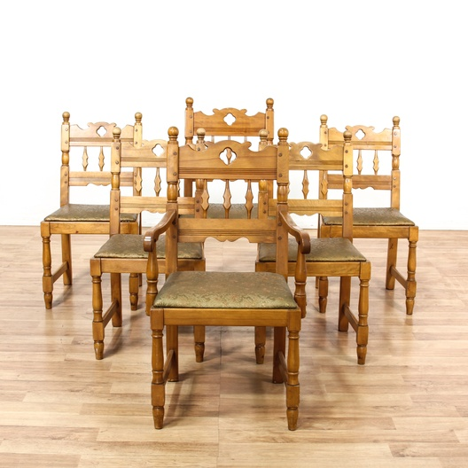 Ashley Furniture Orange County Ca: 6 California Farmhouse Mission Style Dining Chairs