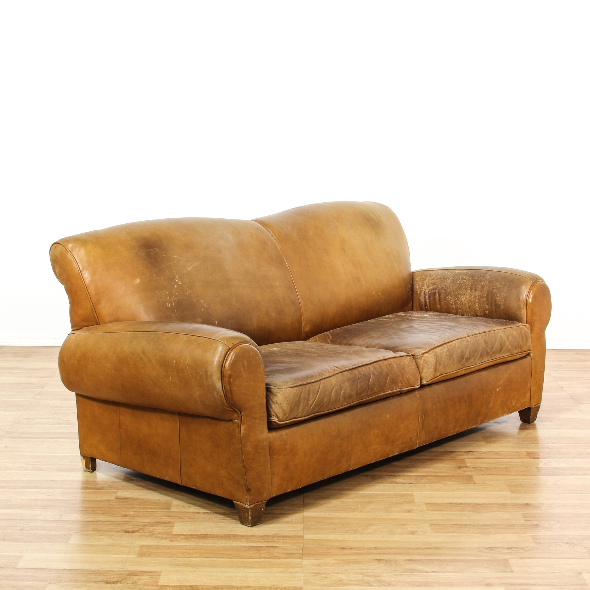 Leather upholstered sleeper sofa loveseat vintage for Sofa bed los angeles