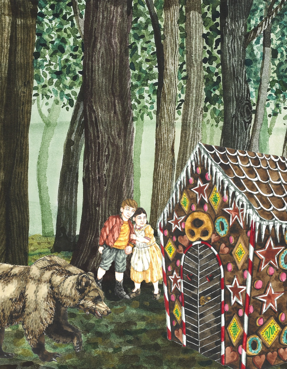 Akvareller Olle Ekström och collage Maria Bohlin/Kulturen