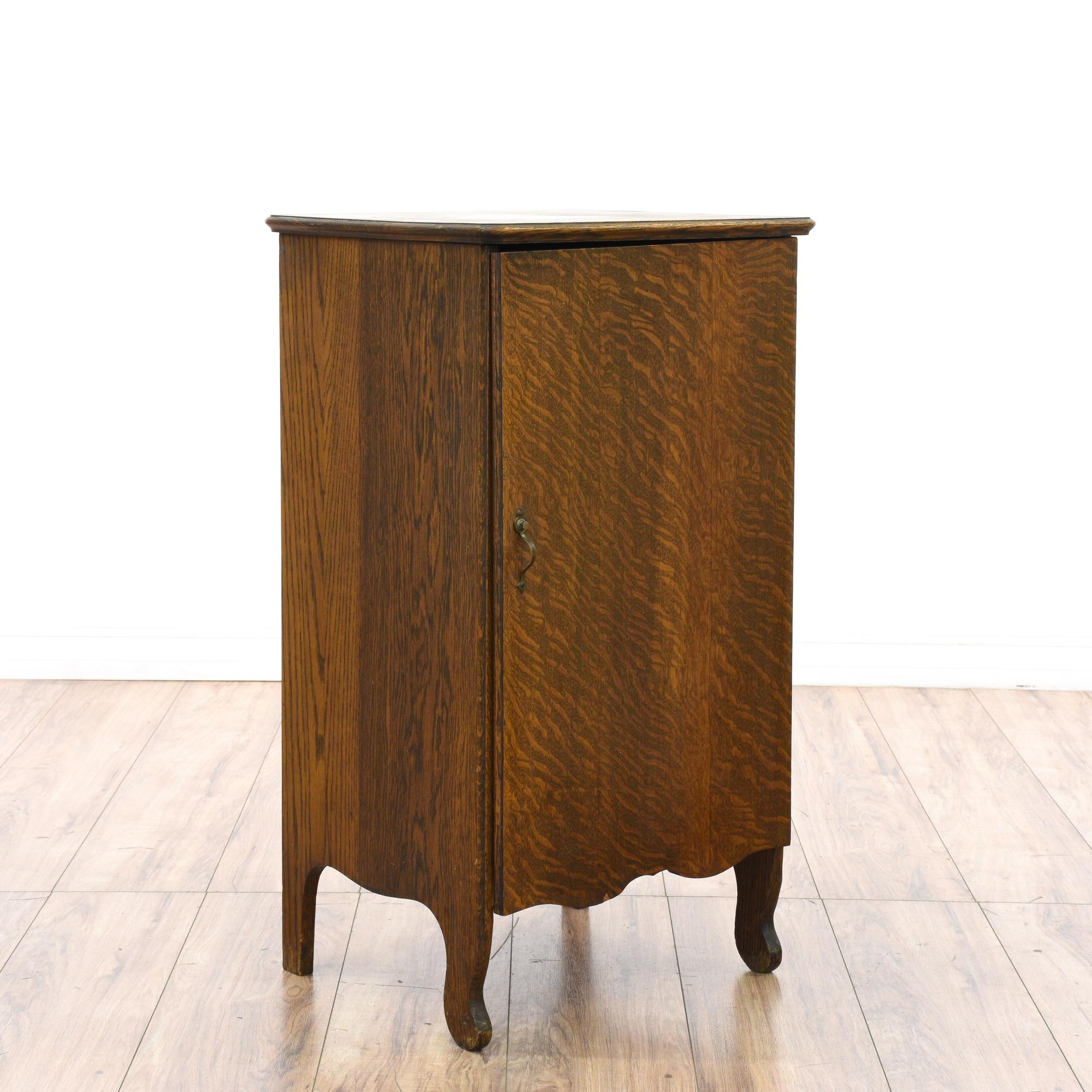 Antique Record Storage Cabinet
