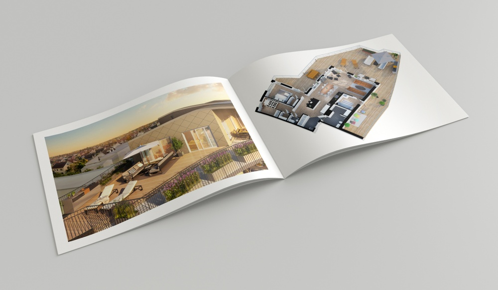 Photorealistic 3D images as used in print