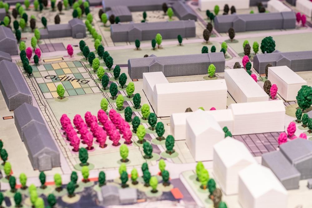 Sege Park. Skala 1:500. Malmö Stadsbyggnadskontor. Modellverkstaden/SMA