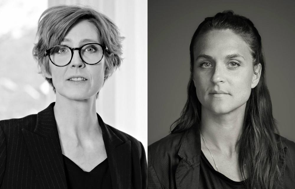 Josefine Engström, ordförande Svenska Tecknare (foto: Eva Edsjö). Åsa Anesäter, verksamhetsledare Svenska Fotografers Förbund (foto: Robert Blombäck).