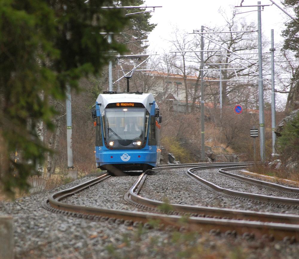 Nockebybanan, nya vagnar.  Foto: Petrus Sarmento
