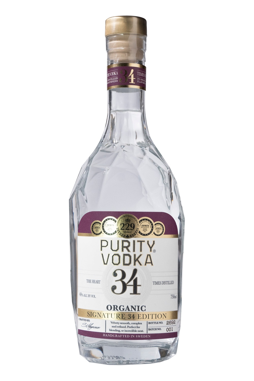 PURITY SIGNATURE 34 EDITION PURITY ORGANIC VODKA