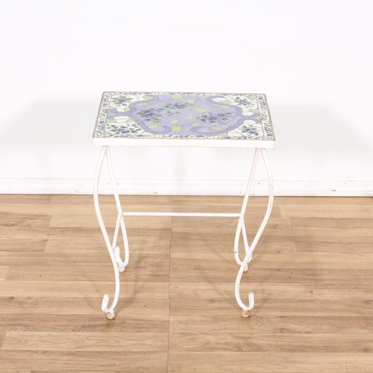 Purple Mosaic Tile Top Table Loveseat Vintage Furniture Los Angeles