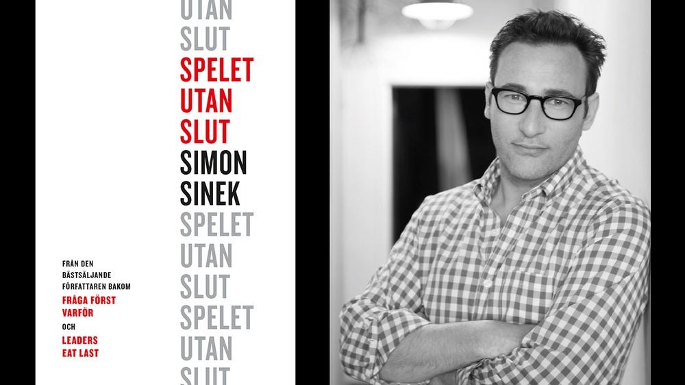 Simon Sinek, aktuell i augusti 2020 med boken Spelet utan slut.