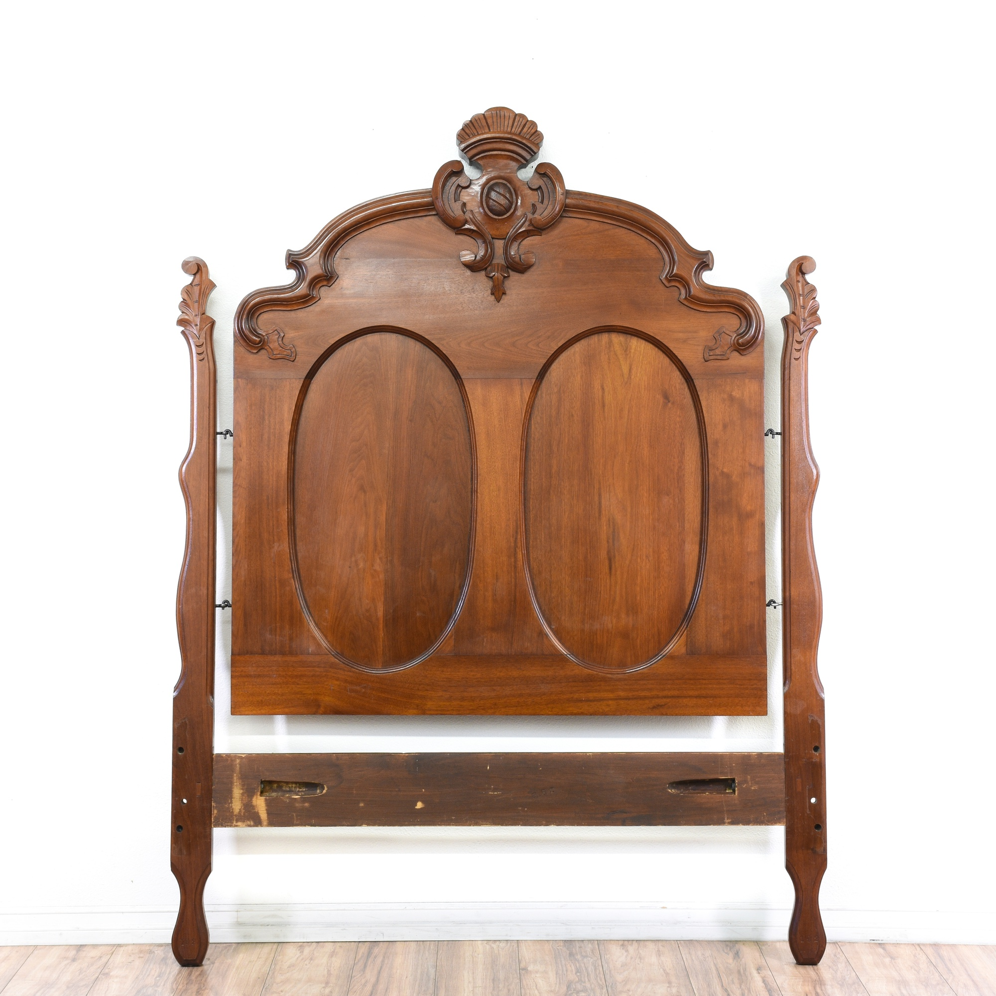 Queen Size Carved Wood Antique Headboard Loveseat Online Auctions San Diego